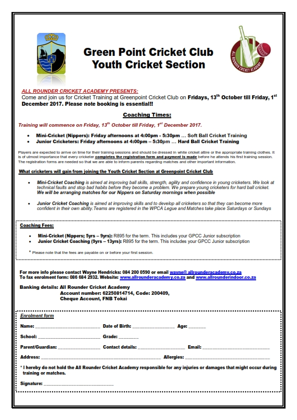 Greenpoint CC Youth Section - Term 4_2017 (New)_001