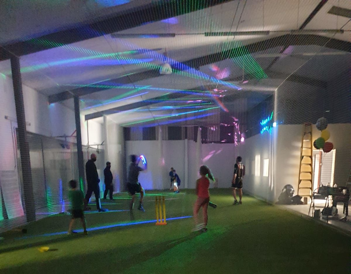 Glow in the dark cricket party